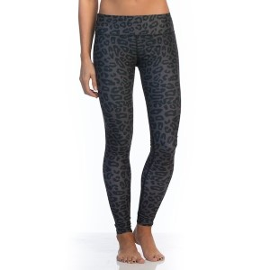 SIX30 Charcoal Cheetah Womens Compression Training Tights - Black/Grey