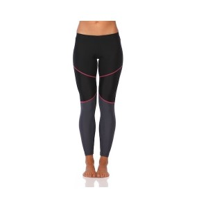 SIX30 Mink Pink Womens Compression Training Tights - Black/Grey/Pink