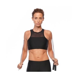 SIX30 Mesh Womens Crop Top - Black