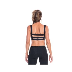 SIX30 Tory Elastic Womens Sports Bra - Black
