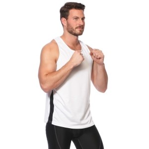 SIX30 Mens Running Singlet - White