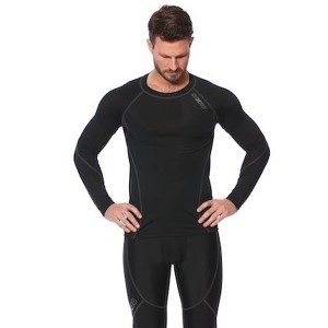 SIX30 Mens Thermal Long Sleeve Compression Top - Black