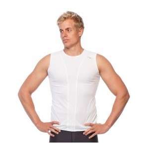 SIX30 Mens Compression Training Tank Top - White