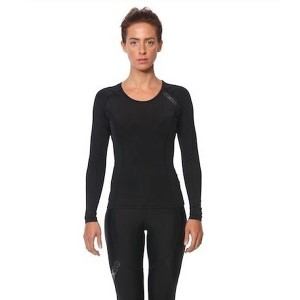 SIX30 Womens Thermal Long Sleeve Compression Top - Black