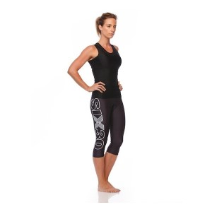 SIX30 Womens PRO Compression 3/4 Bike Tights - Black