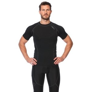 SIX30 Mens Short Sleeve Compression Top - Black