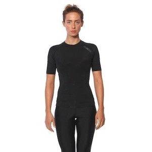 SIX30 Womens Compression Short Sleeve Top - Black