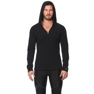 SIX30 Mens Hooded Running Jacket - Black