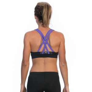 SIX30 Electric Sports Bra - Black/Purple