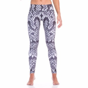 SIX30 Python Womens Compression Training Tights - Grey/White