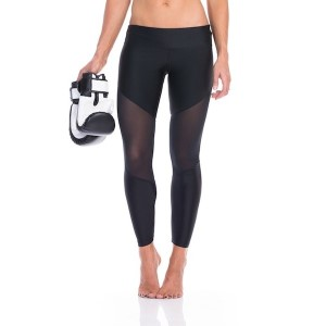 SIX30 Anj Mesh Womens Compression Training Tights - Black