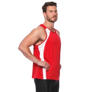 SIX30 Mens Running Singlet - Red