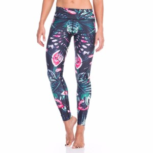 SIX30 Jungle Fever Womens Compression Training Tights - Green